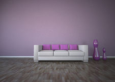 Purple Interior Design Parquet Stock Photography