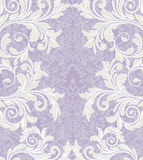 Purple floral damask invitation card Stock Photography