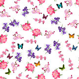 Purple Iris flowers stock illustration
