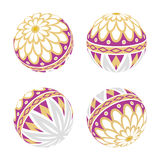 Purple Japanese Old-fashioned toy ball.  Royalty Free Stock Images