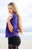 Purple jersey stock image