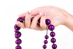 Purple jewelry Stock Images