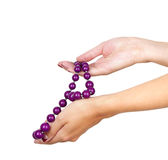 Purple jewelry Royalty Free Stock Photography