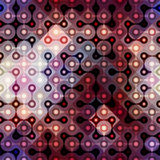 Purple joined balls. Seamless background pattern. Joined balls pattern on geometric background Stock Image