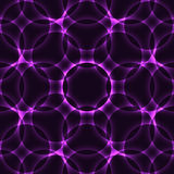 Purple Kaleidoscope Circle Seamless Background Stock Photography