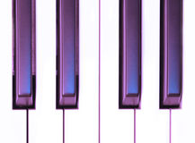 Purple Keys. Piano keys with a purple tint Royalty Free Stock Image