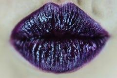 Purple kiss Royalty Free Stock Photo