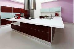 Purple kitchen Stock Image