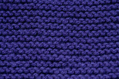 Purple knitted background Royalty Free Stock Photos