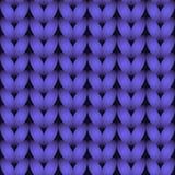 Purple knitted seamless pattern Royalty Free Stock Image