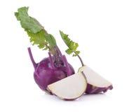 Purple kohlrabi isolated on white background Royalty Free Stock Photo