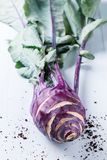 Purple kohlrabi Stock Image