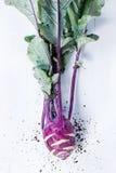 Purple kohlrabi Stock Photo