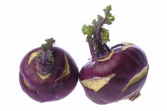 Purple Kohlrabies Isolated Royalty Free Stock Photography