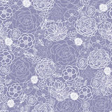 Purple lace flowers seamless pattern background Royalty Free Stock Photo