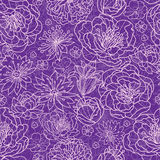 Purple lace flowers seamless pattern background Stock Photo