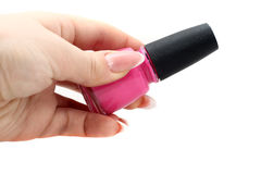 Purple lacquer. Purple varnish from Christian Dior Stock Photography