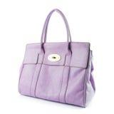 Purple lady hand bag Stock Photography