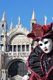Purple lady mask Royalty Free Stock Image