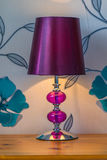 Purple Lampshade. Royalty Free Stock Photography