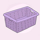 Purple Laundry Basket Stock Photos