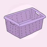 Purple Laundry Basket Stock Photos