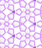 Purple layered floristic swirl lace seamless pattern. Abstract 3d geometrical seamless background. Purple layered floristic swirl lace pattern with cut out of royalty free illustration