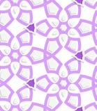 Purple layered floristic swirl lace seamless pattern Royalty Free Stock Photography
