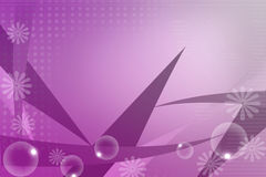 Purple leaf and bubble, abstract background Stock Image