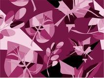 Purple leaf pattern Stock Photography