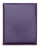 Purple leather notebook isolated Stock Image