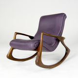 Purple Leather Rocking Chair Royalty Free Stock Images