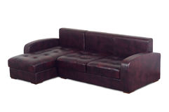 Purple leather sofa Royalty Free Stock Photo
