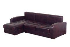 Purple leather sofa Royalty Free Stock Photo