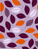 Purple leaves. Seamless background. Vector illustration Stock Images