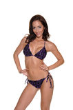 Purple Leopard Sequined  Bikini Royalty Free Stock Images