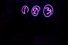 1 2 3 Purple Light Art Stock Photography