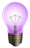 A purple light bulb Royalty Free Stock Image