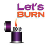 Purple lighter Royalty Free Stock Photography