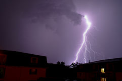 Purple Lightning Stock Images
