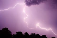 Purple Lightning Stock Photos