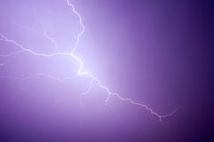 Purple lightning Royalty Free Stock Photos