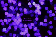 Purple lights. On a black background Royalty Free Stock Photos