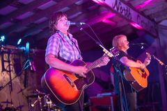 Purple Lights on Stage with the Indigo Girls Royalty Free Stock Photos