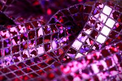 Purple lilac glitter square sequin glitter fabric background Stock Photography