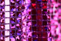 Purple lilac glitter square sequin glitter fabric background Stock Image