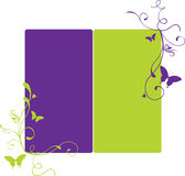 Purple and lime banner. Illustration of the swirly banner in two colours vector illustration