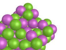 Purple and Lime Green Balls Royalty Free Stock Images