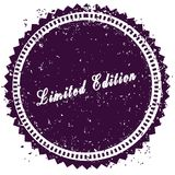 Purple LIMITED EDITION distressed stamp. Illustration image concept Royalty Free Stock Photos