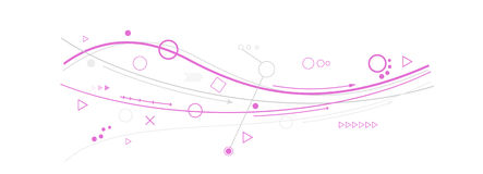 Purple lines, circles and different symbols Stock Photos
